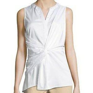 Michael korres sleevelss knot tie white blouse